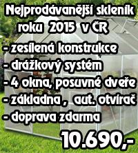 Nejprodávanější skleník roku 2015 v ČR