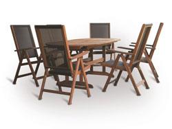 Dřevěný zahradní nábytek Parkway set 6 stolová sestava