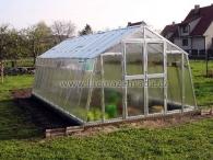 LIMES VARIANT L 6 pozinkovaný skleník, prosklení - sklo HELIOS