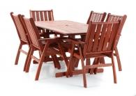 Dřevěný zahradní nábytek MERANTI VICTORIA SET 6 stolová sestava
