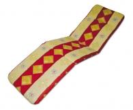 Polstr na lehátko - Červený 175 x 50 x 6 cm