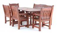 Dřevěný zahradní nábytek MERANTI RODOS SET 7