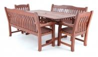 Dřevěný zahradní nábytek MERANTI RODOS SET 8