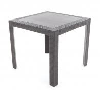 Plastový stůl SATURNO s imitací umělého ratanu