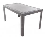 Plastový stůl URANO s imitací umělého ratanu