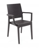 Plastová židle SIBILLA v imitaci umělého ratanu