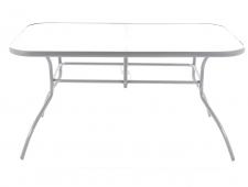 Kovový zahradní nábytek Ekonomy set 4 SILVER stolová sestava