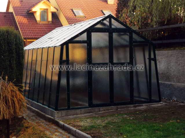 LIMES VARIANT K 4 pozinkovaný skleník, prosklení - sklo HELIOS