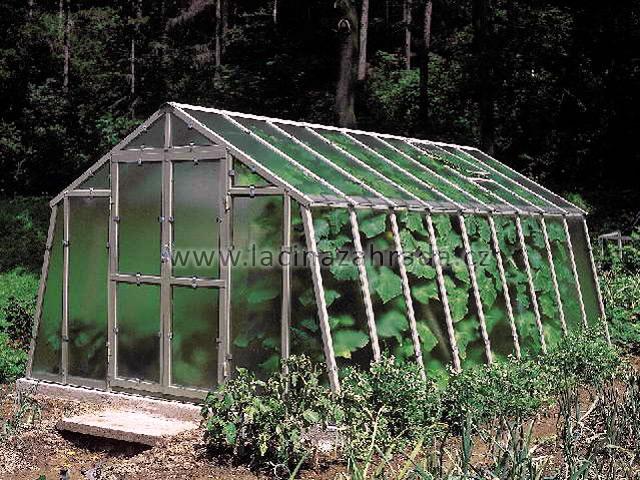 LIMES VARIANT L 4,5 pozinkovaný skleník, prosklení - sklo HELIOS