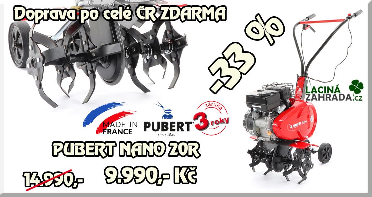 Kvalitní lehký benzinový kultivátor PUBERT NANO 20R vakci nyní za 9.990,-Kč.