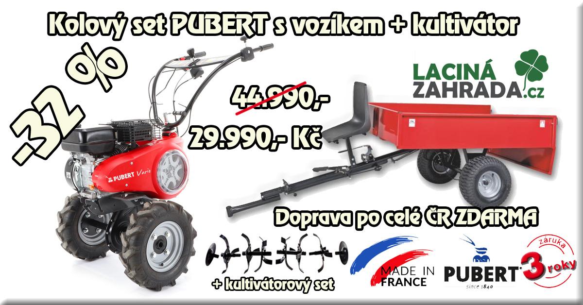 Akční kolový set PUBERT VARIO 55P C3  s vozíkem VARES HV 220L + kultivátorový set II. + Doprava Zdarma v akci nyní za 27.990,-Kč.
